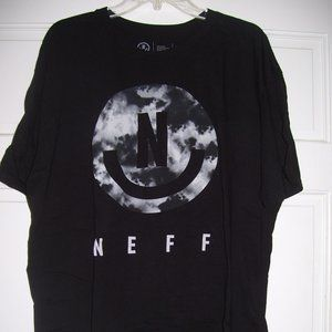 NEFF Clouds Smile Face TEE *Black* Size XL